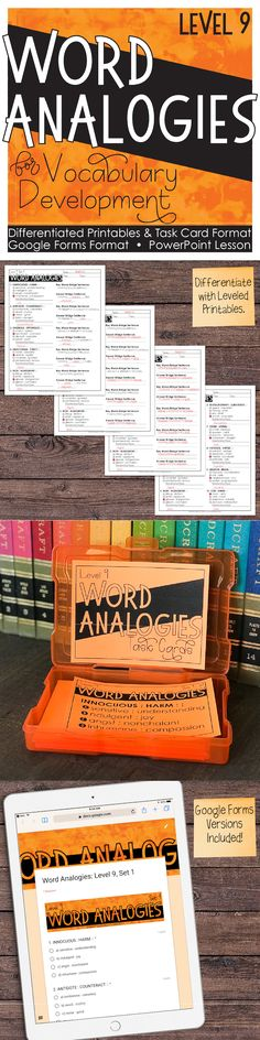 Word analogies are an effective way to build vocabulary skills while developing critical thinking.