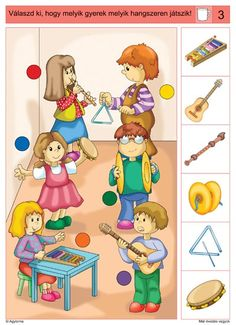 Crafts,Actvities and Worksheets for Preschool,Toddler and Kindergarten.Lots of worksheets and coloring pages. Music Lessons For Kids, Music For Kids, Toddler Learning Activities, Kids Learning Activities, Preschool Music, Preschool Worksheets, Music Crafts, In Kindergarten, Musical Instruments