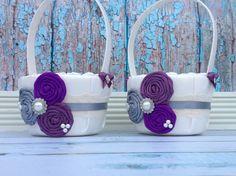 Flower girl baskets  /  rustic / barnyard wedding/ vintage flower girl basket/ custom - you design on Etsy, $59.98