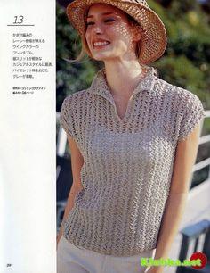 Женский летний пуловер крючком (Без перевода)♪ ♪ ... #inspiration_crochet #diy GB