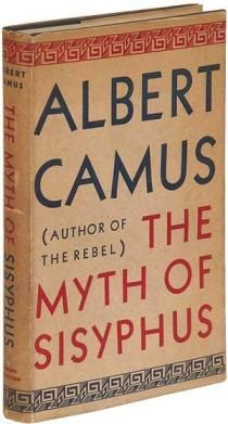 """Albert Camus' """"The Myth of Sisyphus"""" describes the absurd hero and highlights his philosophy on the meaning of life. If you're legitimately asking yourself """"what is the meaning of life?"""", then this essay is worth reading. Albert Camus Quotes, Books To Read, My Books, Philosophy Books, Book Cover Design, Great Books, Reading Lists, Nonfiction, Writing"""