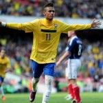 Neymar - Brazilian striker who happens to be one of the best young players in the world. Wallpaper Gallery, Hd Wallpaper, The Next Big Thing, Neymar Jr, Hd Desktop, My Passion, Fifa, World Cup, Brazil