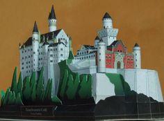 Neuschwanstein Castle Paper Model - by Takayoshi Ichiyama