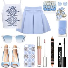 A fashion look from March 2015 featuring Topshop tops, Gianvito Rossi pumps and Forever New bracelets. Browse and shop related looks.