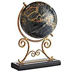Love globes and old world maps!!! Bebe'!!! Really great idea to collect globes!!!