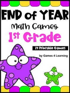 End of the Year Math Games for First Grade: Summer Packet Activities Third Grade Math Games, First Grade Math, Fun Math, Math Activities, First Grade Addition, Math Board Games, Subtraction Games, Addition Games, Number Games