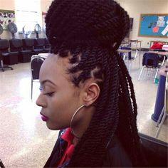 Marley Twists - Black Hair Information Community Senegalese Twist Hairstyles, Crochet Braids Hairstyles, Braided Hairstyles, Cool Hairstyles, Black Hairstyles, Protective Hairstyles, Senegalese Twists, Crochet Senegalese, African Hairstyles