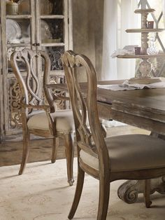 Shop for Hooker Furniture Chatelet Splatback Side Chair - 2 per carton/price ea, and other Dining Room Chairs furniture. Fabric Dining Chairs, Solid Wood Dining Chairs, Upholstered Dining Chairs, Dining Chair Set, Dining Room Furniture, Dining Room Table, Dining Area, Pedestal Dining Table, Extendable Dining Table