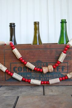 Wine Cork Garland3 Yards by SweetSophieMaes on Etsy