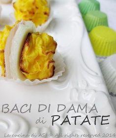 Ecco dei baci di dama di patate deliziosi fingerfood con prosciutto cotto e formaggio asiago o fontina, fatti con il pure Ricetta antipasto La cucina di ASI