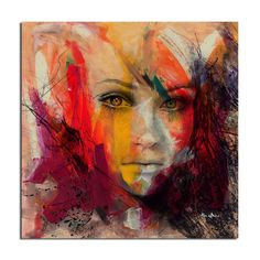 'Abstract Girl 4' by Alexis Bueno Painting Print on Wrapped Canvas