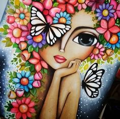 Likes, 84 Comments - ʀᴏᴍɪ ʟᴇʀᴅᴀ Art Drawings Sketches Simple, Colorful Drawings, Cute Drawings, Drawings Pinterest, Abstract Face Art, Bijoux Fil Aluminium, Indian Folk Art, Happy Paintings, Whimsical Art