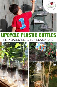 16 Ways to Recycle Plastic Bottles for Play! by THE EMPOWERED EDUCATOR If you have been throwing those empty juice, water and soft drink bottles into the bin then STOP right there because today I'm sharing 16 easy ways to recycle plastic bottles for play! Outside Activities For Kids, Earth Day Activities, Summer Activities For Kids, Stem Activities, Play Based Learning, Early Learning, Fun Learning, Family Day Care, Reuse Plastic Bottles