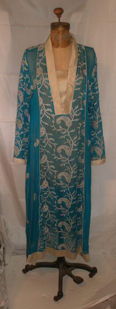 Presidents Day Sale Stunning Caftan Tunic Maxi Dress-India-Bejewelled-Boho-Tribal-Festival-Ethnic-Hippie-Medium-Size 6-Size 8-Bust 38-Bust 4
