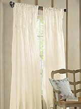 Smocked Window Panel | LinenSource  LOVE this!  and much more 'current' than the valence we have now.