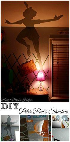 Peter pan bedroom - DIY Peter Pan's Shadow Nightlight Busy Mom's Helper Peter Pan Bedroom, Peter Pan Nursery, Deco Disney, Disney Diy, Peter Pan Disney, Peter Pan Dekoration, Peter Pan Shadow, Peter Pans, Peter Pan Decor