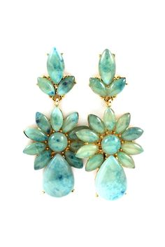 Water Blue Delphine Earrings | Awesome Selection of Chic Fashion Jewelry | Emma Stine Limited