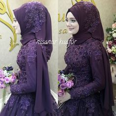 Over are the times when bridesmaids shrink from their dresses. Now, with such a … – Hijab Fashion 2020 Muslimah Wedding Dress, Hijab Bride, Muslim Brides, Wedding Hijab, Muslim Dress, Pakistani Wedding Dresses, Muslim Girls, Muslim Couples, Bridal Hijab Styles