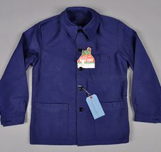 "1960s ""Bleu de Travail"" French Work Jacket, Deadstock"