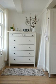 Side by side IKEA Hemnes dressers for the guest room in Naples ...
