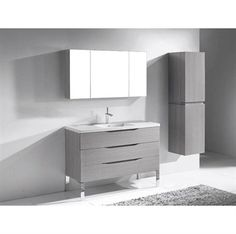 "Madeli+Milano+48""+Bathroom+Vanity+for+X-Stone+Integrated+Basin+-+Ash+Grey"