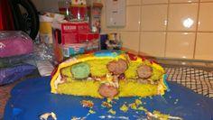 Inside my Mr Tumble cake...more spots :-)