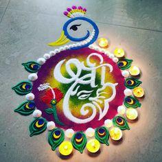 Easy Rangoli Designs Videos, Rangoli Designs Latest, Rangoli Designs Flower, Small Rangoli Design, Rangoli Ideas, Colorful Rangoli Designs, Flower Rangoli, Kolam Designs, Mehndi Designs