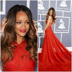 Rihanna beyond gorgeous at the Grammys. Girl Crush