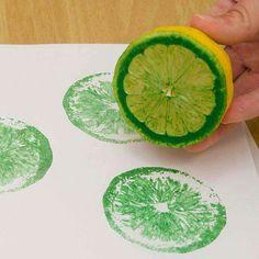 Peinture avec fruits