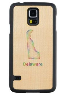 Rainbow Delaware map Maple Galaxy S5 Slim Case $49.65