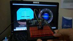 Artificial Horizon and Compass Using Arduino-Processing-MPU6050