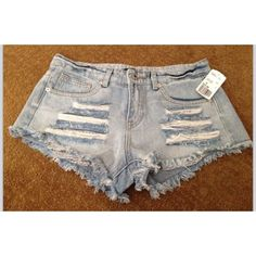Light denim shorts! Distressed denim shorts with tribal print underneath pockets. Super cute and great for the summer! ❌ No trades ❌ Forever 21 Shorts Jean Shorts