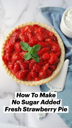 Sugar Free Deserts, Sugar Free Fruits, Sugar Free Recipes, Healthy Fruits, Healthy Desserts, Delicious Desserts, Diabetic Desserts, Fruit Recipes, Pie Recipes