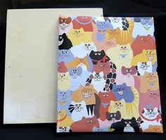 Large Vintage Hallmark Kitty Cat 5-Pg Photo Album & Box Cats Photographs MEOW!