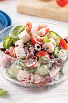 Cette salade tout en fraîcheur est le parfait souper de semaine: simple et efficace! Salad Bar, Cobb Salad, Lean Cuisine, Light Recipes, Summer Recipes, Entrees, Potato Salad, Salads, Dessert Recipes