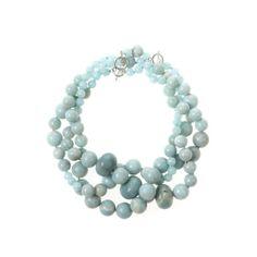 Oscar de la Renta Three Strand Beaded Necklace ($890) ❤ liked on Polyvore