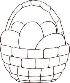 Printable Easter Basket Coloring Pages Drawings Clipart Pictures 2017