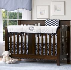 Monogrammed Baby Bedding Sets and Separates – Liz and Roo from American Made Dorm & Home