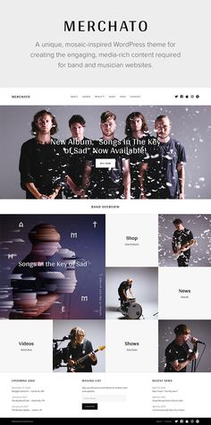 Merchato - Music and Band eCommerce WordPress Theme #music #wordpress #musician