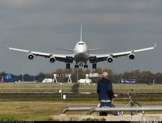 Picture of the Boeing 747-412(BCF) aircraft.   It's there somewhere but where's the runway? Szabo Gabor