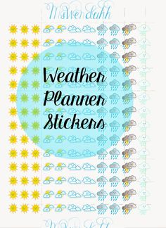 MsWenduhh Planning & Printing: Weather Planner Stickers