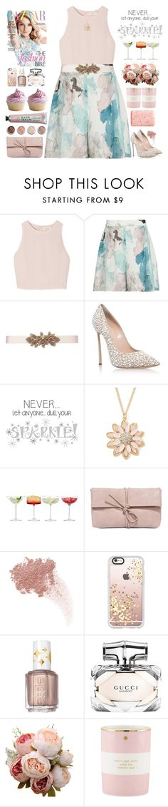"""Sparkle"" by doga1 on Polyvore featuring SemSem, Reiss, Oscar de la Renta, Casadei, Mixit, LSA International, LULUS, Terre Mère, W3LL People and Casetify"