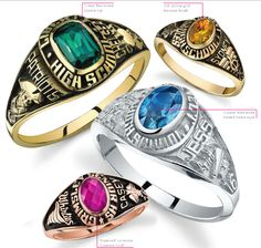 The princess ring is a beautiful stylish, slender ring. Choose a custom prideside to show your school pride!  Customize your ring today at highschool.herffjones.com