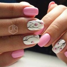 Nail art is a very popular trend these days and every woman you meet seems to have beautiful nails. It used to be that women would just go get a manicure or pedicure to get their nails trimmed and shaped with just a few coats of plain nail polish. Spring Nail Art, Nail Designs Spring, Cute Nail Designs, Spring Nails, Summer Nails, Fall Nails, Nail Art Flowers Designs, Holiday Nails, Christmas Nails