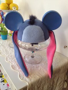 Eeyore Ear Hat! Disney Mickey Mouse Ear Hat transformed into Eeyore. I made this for my mom, who is a big Eeyore fan.