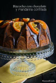 Manzana&Canela: Bizcocho con chocolate y mandarinas confitadas