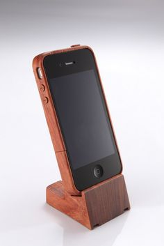 iPhone 4 Rosewood Wood Case & Stand NIB - $55