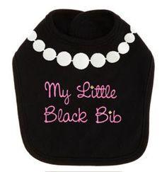"""Or """"This Is My Little Black Dress"""" onsie"""