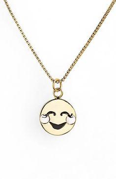 kate spade new york 'tell all' emoji pendant necklace   Nordstrom