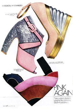 Look at the sparkly Miu Miu shoes. Ooooh!